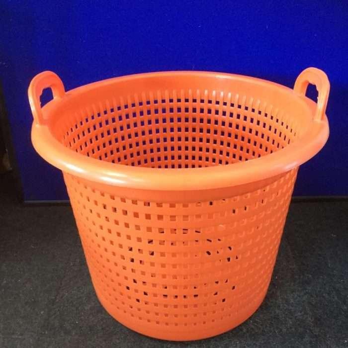 orange and blue baskets